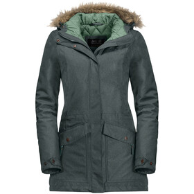 Jack Wolfskin Coastal Range Parka Women greenish grey